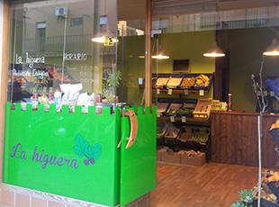 Productos ecológicos en el barrio de Triana de Sevilla. Biológico Vela Blanca
